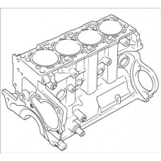 Блок цилиндров Isuzu 6RA1